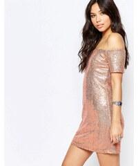 Glamorous - Robe moulante à épaules dénudées - Doré