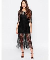 Goldie - Karley - Robe en dentelle avec fond de robe - Noir