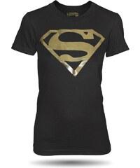 Tričko Superman logo Gold dámské oficiální kolekce Superman