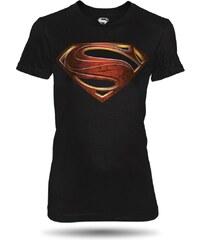 Tričko Superman Man of Steel dámské černé oficiální kolekce Superman