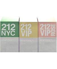 Carolina Herrera Giftset EDT dárková sada W - 20ml Edt 212 + 20ml Edp 212 Vip + 20ml Edp 212 Vip Rose