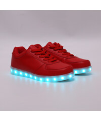 Lesara LED-Schuh in Leder-Optik - Rot - 36