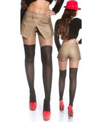 Koucla Sexy koženková sukně s kraťasy