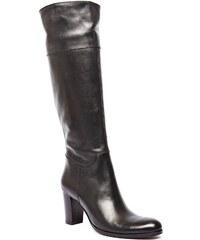 Ann Tuil Bardo - Bottes à talon - en cuir noir