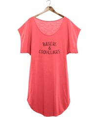 French Disorder Baisers et coquillages - Robe de plage - rose