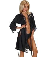 Beauty Night Fashion Erotický župan BEAUTY NIGHT Ambrosia černý