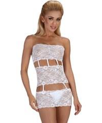 Beauty Night Fashion Erotické šaty BEAUTY NIGHT Sibille bílé
