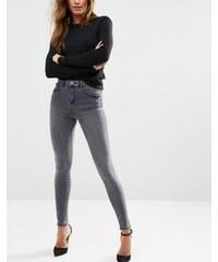 ASOS - Sculpt Me - Jean taille haute de qualité supérieure - Gris moyen Serena - Bleu