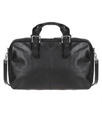 Cestovní taška z buvolí kůže 1059 černá