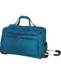 d & n Lederwaren Cestovní taška na kolečkách 7715-06 petrol