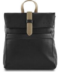 ESTELLE Dámský kožený batoh 0141 černo-béžová