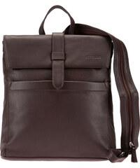 ESTELLE Dámský kožený batoh 0141 tmavě hnědý
