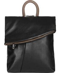 ESTELLE Dámský kožený batoh 0144 černo-béžová