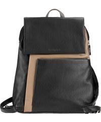 ESTELLE Dámský kožený batoh 0145 černo-béžová
