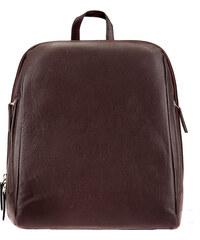 ESTELLE Dámský kožený batoh 0610 tmavě hnědý