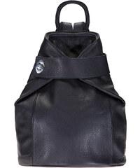 ESTELLE Dámský kožený batoh 0960 tmavě modrá