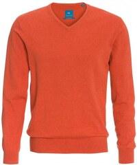 COOL CODE Herren Strickpullover orange aus Baumwolle