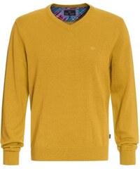 Paul R.Smith Herren Strickpullover gelb aus Baumwolle