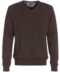Paul R.Smith Herren Strickpullover braun aus Baumwolle