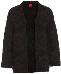 Livre Damen Cardigan Strickjacke Langarm schwarz mit Wolle