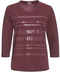 Michèle Boyard Damen T-Shirt körperbetont rot aus Baumwolle