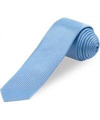 COOL CODE Herren Krawatte Breite 6 cm blau aus echter Seide