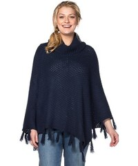 Damen Casual Poncho SHEEGO CASUAL blau 44/46,48/50,52/54