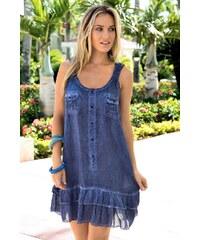 Luxusní italské letní šaty z kolekce Iconique 621KQ jeans S