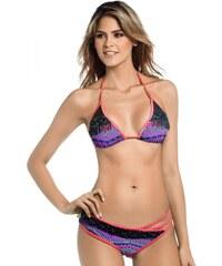 Mar De Rosas Maillot de bain 2 pièces bikini triangle brodé à la main avec bijoux