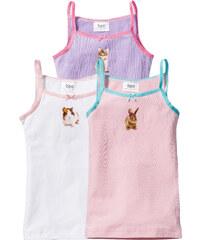 bpc bonprix collection Lot de 3 tricots de peau, T. 92/98-152/158 rose lingerie - bonprix