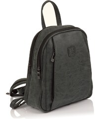 Moderní ekokožený dámský batoh Enrico Benetti 23206 - černá