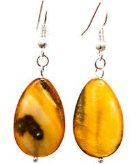 Philippine Treasures Náušnice z mušlí Amber 8-PT