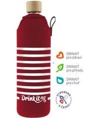 Drink It Cestovní skleněná láhev ROZMARNÉ LÉTO, 0,7 L