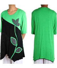 Lesara Pluse Size Kleid mit Blumen-Motiv - Grün - 56-58