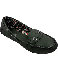Lesara Damen-Slipper mit Mokassin-Optik - Schwarz - 36