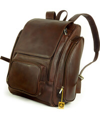 XL kožený batoh na notebook 709 hnědý
