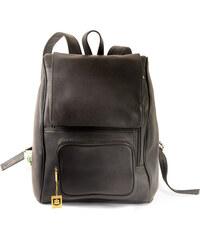 XL kožený batoh na notebook 711 černý