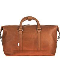 XL cestovní taška z hovězí kůže Jahn-Tasche 697 koňak