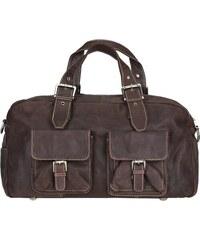 Cestovní taška z buvolí kůže 0342 hnědá