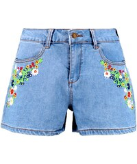 BOOHOO Džínové šortky Margret s vyšívaným dekorem