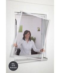 CULEX Insektenschutz-Fensterbausatz »Basic« BxH: 130 x 150 cm, anthrazit