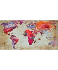 Home Affaire Bild, Kunstdruck, »Joannoo / World in colours«, 70/33/1,3 cm
