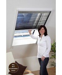CULEX Insektenschutz-Rollo »Dachfenster-Plissee« braun, in 2 Größen