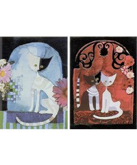 Home Affaire Deco Panel, »Wachtmeister / Cats I/II«, 2x 30/40/2 cm
