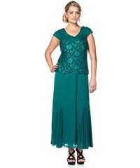 SHEEGO STYLE Damen Langes Style Spitzenkleid grün 21,22,23,24,25,88,92,96,100,104