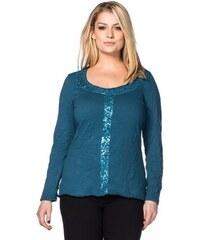 SHEEGO STYLE Damen Style Crinkleshirt mit Pailletten grün 40/42,44/46,48/50,52/54,56/58