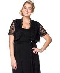 Damen Style Spitzenbolero mit Pailletten SHEEGO STYLE schwarz 40,42,44,46,48,50,52,54,56,58