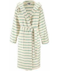 MY HOME Damenbademantel Jules mit farblichen Streifen grün L,M,S,XL,XS