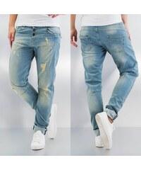 Just Rhyse Destroyed Boyfriend Jeans Midblue