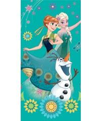 Jerry Fabrics Plážová osuška Frozen green - 70x140 cm